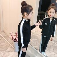 女童春装运动套装2018新款春季卫衣两件套10岁韩版中大童休闲潮衣
