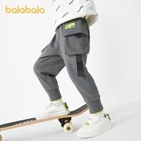 【3件4.5折:81】巴拉巴拉男童裤子儿童长裤潮宝宝童装时尚工装裤撞色休闲裤帅