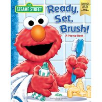 英文原版 芝麻街:学刷牙立体书 Sesame Street Ready, Set, Brush! A Pop-Up B