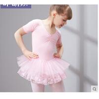 少儿练功服演出服短袖练功表演服 儿童舞蹈服装芭蕾舞裙女童舞蹈裙