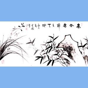中国青年美术家协会常务理事,国家一级美术师,中国山水画院专业画家,山东省美协会员高云鹏(高风亮节)