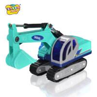 新菱小号工程车儿童模型玩具汽车履带挖掘机挖土车沙地玩具礼物