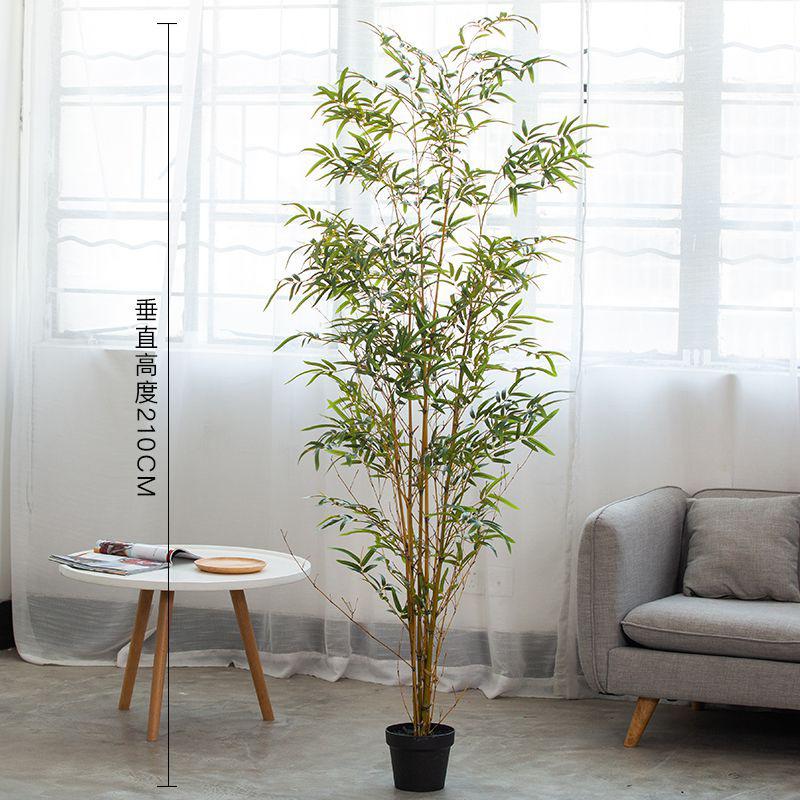 仿真塑料竹子桌面装饰盆栽竹塑料花景观竹落地