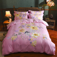 民族风棉四件套棉加厚床单床笠款斜纹被套1.8m床品双人