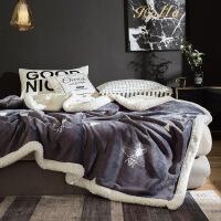 君别毛毯被子冬季羊羔绒加厚保暖珊瑚绒毯子垫床上法兰绒女床单人双层