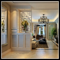 钢琴烤漆门厅柜烤漆雕花屏风鞋柜创意玄关鞋柜隔断柜间厅柜定制 组装