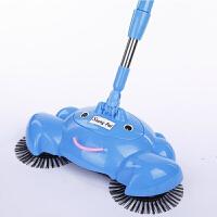 手推式扫地机 家用不用电扫地吸尘器 手推扫地机吸尘器家用软扫把簸箕套装组合扫帚魔术笤帚 蓝色