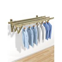 阳台伸缩晾衣架户外推拉家用晒衣架窗外折叠晒被架室外凉衣杆 1米二杆 加厚双环支架
