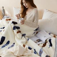双层加厚毛毯云毯沙发午睡毯单人双人珊瑚绒毯子儿童学生秋冬盖毯