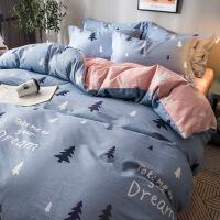 商场同款四件套全棉纯棉床单被套被子女宿舍三件套ins网红床上用品