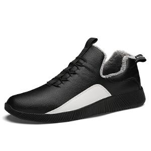 【单鞋/加绒】罗兰船长 休闲鞋时尚百搭潮流拼接男鞋防滑耐磨