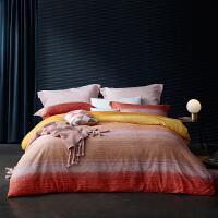 LOVO家纺 全棉缎纹60支高支高密四件套 欧洲设计师设计 床单被套