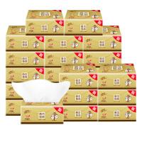清风 原木金装抽纸120抽24包整箱卫生纸餐巾纸面巾纸巾