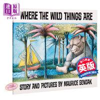 英文原版 Red Fox出版 野兽国 Where the Wild Things Are 凯迪克金奖 野兽出没的地方 美