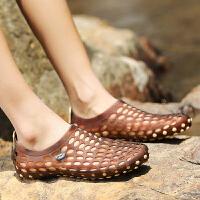 夏季个性新潮塑料拖鞋防水青少年塑胶凉鞋夏天中学生雨天时尚韩版沙滩休闲凉拖