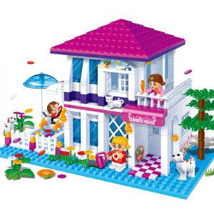 【当当自营】邦宝益智拼装积木小颗粒儿童女孩玩具建筑礼物 假日别墅6105