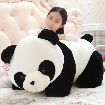 黑白熊猫公仔毛绒玩具*趴趴熊抱枕玩偶娃娃抱抱熊送女生女孩 50厘米(送30厘米同款熊猫)