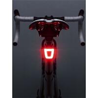 头盔尾灯自行车灯夜骑警示灯USB充电高亮骑行装备