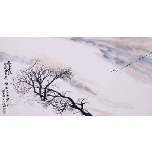 现代著名国画家   何海霞《天高云淡》