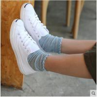 蝶风缘春夏镂空中筒袜堆堆短袜森系韩版透气蕾丝花边棉袜子女