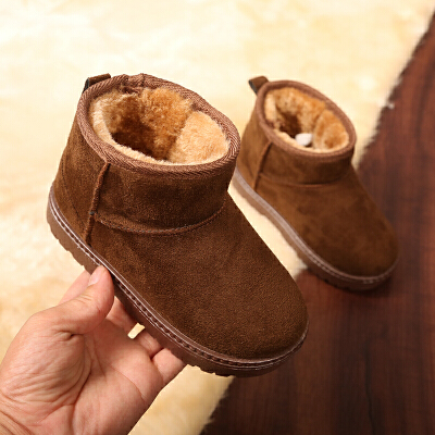 2018冬季儿童雪地靴新款男童女童短靴宝宝靴子冬鞋中大筒棉靴童鞋   【新款上新,支持七天退换货,欢迎购买】