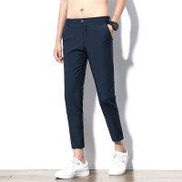 九分西裤男新款韩版修身时尚小脚裤潮牌休闲裤