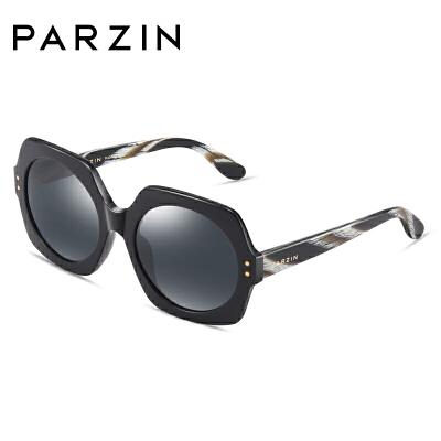 帕森太阳镜女宋佳明星同款复古板材偏光驾驶镜大框修脸潮墨镜9740