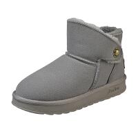 雪地靴女短筒2018冬季新款短靴韩版百搭学生棉鞋加绒保暖短靴潮