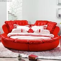 圆床 双人床 时尚现代软床 婚床 欧式公主床 床 2.+加乳胶 折叠圆床垫+2个圆柜 其他