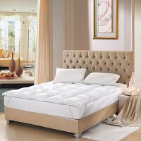 LOVO家纺 匈牙利进口鹅毛床垫保暖羽绒床垫冬床垫
