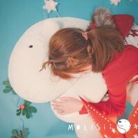 睡眠抱抱熊 毛绒抱枕靠垫创意礼物 柔和乳白色 高1.2m