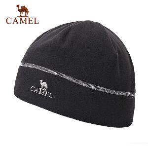 camel骆驼户外抓绒帽 简约复古保暖户外运动抓绒帽