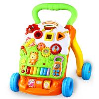 婴儿学步车手推车宝宝多功能音乐钢琴话筒6-7-18个月可调速助步车