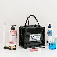 家居日用化妆包女小号便携韩国简约大容量手提洗漱品收纳用品袋