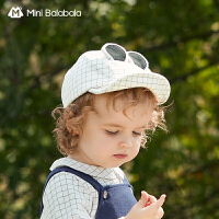 迷你巴拉巴拉婴儿可爱平檐棒球帽2021春款软沿帽动物耳朵造型帽子