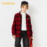 【�_�W季 折后�B券�A估�r:95】巴拉巴拉男童�r衫�L袖秋冬童�b�和��r衣中大童加�q格子衫