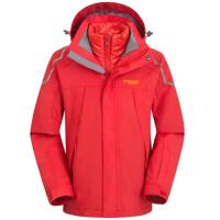 户外儿童冲锋衣 男女童羽绒内胆 防风防水保暖两件套滑雪服