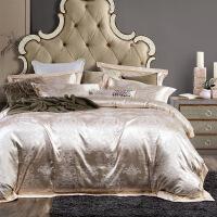欧式棉床单四件套贡缎提花纯棉被套床上用品简约床品套件