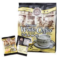 马来西亚进口食品 咖啡树麦可槟城无糖白咖啡二合一450g袋装 30gX15包 饮品