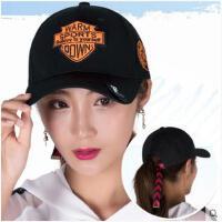 帽子女秋季棒球帽韩版百搭街头学生潮鸭舌帽户外防晒遮阳帽