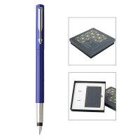 PARKER 派克威雅蓝色胶杆墨水笔/星梦奇缘笔记本礼盒