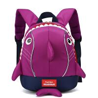 菲姿卓尔新款流行包包时尚儿童大容量双肩背包牛津纺拉链鲨鱼双肩包