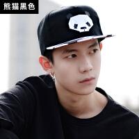 帽子男韩版鸭舌帽百搭棒球帽女熊猫街头时尚休闲简约印花遮阳帽
