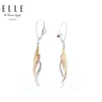 ELLE耳环 S925银红宝石耳坠 三色鎏金系列 修饰脸型礼物送女友