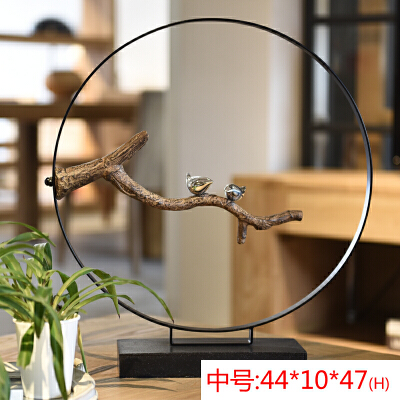 新中式摆件客厅玄关家居创意 结婚礼物一对婚庆摆设 电视柜饰品 春季新品