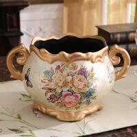 茶几陶瓷花瓶欧式复古创意奢华家居客厅摆件酒店婚庆装饰品