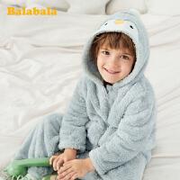 巴拉巴拉儿童睡衣男孩女孩男家居服套装加厚保暖珊瑚绒萌趣小童潮