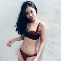 性感小胸聚拢内衣女无钢圈加厚1/2半杯文胸舒适少女胸罩