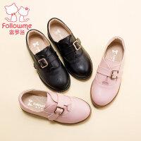 富罗迷女童鞋儿童鞋2017秋季新款真皮单鞋英伦休闲韩版皮鞋公主鞋