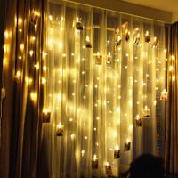星星装饰灯LED爱心形彩灯闪灯串灯宿舍房间布置生日挂灯满天星